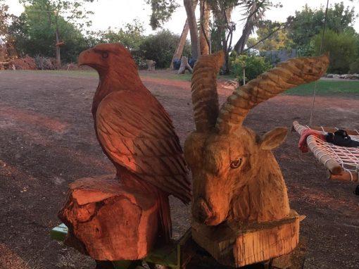 Águila y macho cabrío