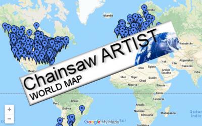 Javier Gisbert en el WORLD MAP OF CHAINSAW ARTISTS